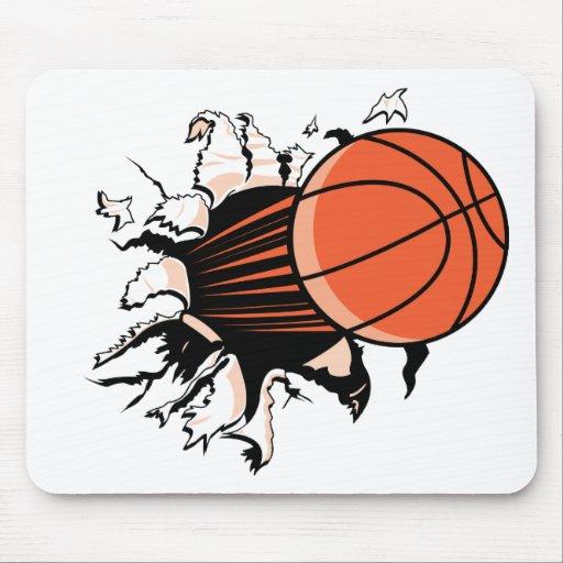 Explosión del baloncesto alfombrillas de ratón