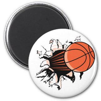 Explosión del baloncesto iman de nevera