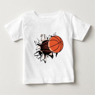 Explosión del baloncesto playera de bebé