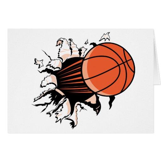 Explosión del baloncesto tarjetas