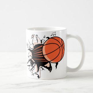 Explosión del baloncesto tazas de café