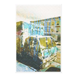 Explosión del Camión-UNo-Licious (amor de la pinta Lienzo Envuelto Para Galerías
