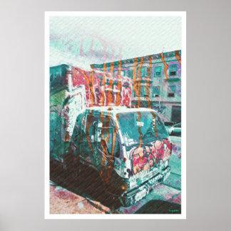Explosión del Camión-UNo-Licious (amor de la pinta Póster