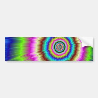 Explosión del color pegatina de parachoque