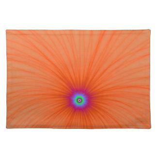 Explosión del color de la mandarina manteles individuales