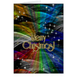 Explosión del color de las Felices Navidad PERSONA Tarjeta