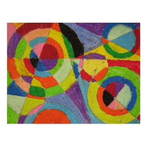 Explosión del color de Roberto Delaunay Tarjeta Postal