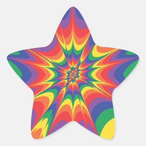 Explosión del color: Pegatina de la estrella