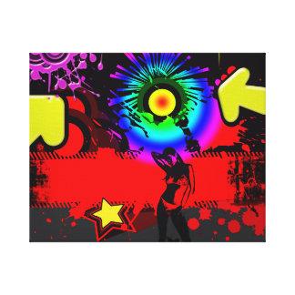 Explosión del estallido impresión en lona estirada