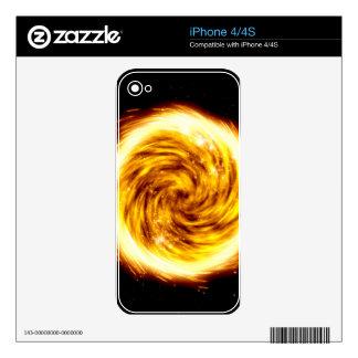 Explosión del fuego calcomanía para el iPhone 4