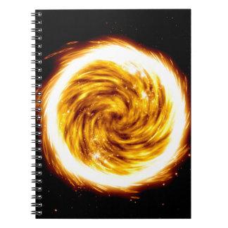 Explosión del fuego note book