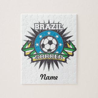 Explosión del fútbol del Brasil Puzzle Con Fotos