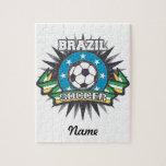 Explosión del fútbol del Brasil Rompecabeza