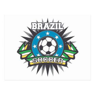 Explosión del fútbol del Brasil Tarjeta Postal