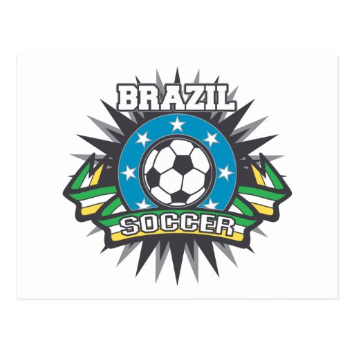 Explosión del fútbol del Brasil Postales