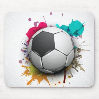 Explosión del fútbol tapetes de ratón
