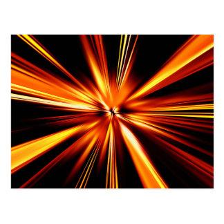 Explosión del naranja postales