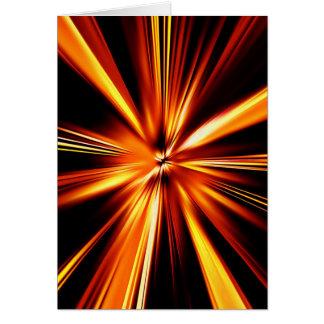 Explosión del naranja tarjeta de felicitación