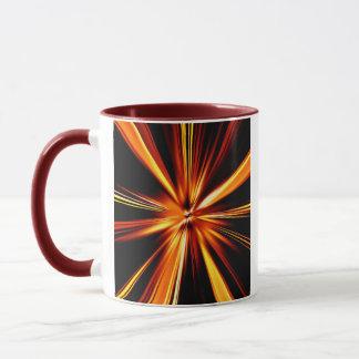 Explosión del naranja taza