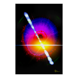 Explosión del rayo gama impresiones