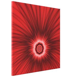 Explosión del rojo de la impresión de la lona lienzo envuelto para galerias