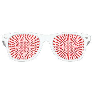 explosión del rojo lentes de fiesta