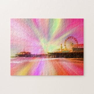 Explosión del rosa del embarcadero de Santa Mónica Puzzle Con Fotos