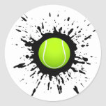 Explosión del tenis pegatina redonda