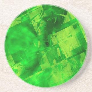 Explosión del verde posavasos diseño