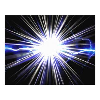 Explosión eléctrica de la estrella del relámpago tarjetas publicitarias