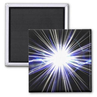 Explosión eléctrica de la estrella del relámpago imán cuadrado