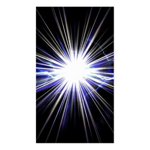 Explosión eléctrica de la estrella del relámpago tarjetas de visita