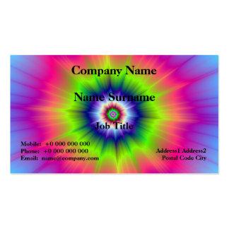 Explosión en verde azul y tarjeta rosada tarjetas de visita