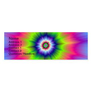 Explosión en verde azul y tarjeta rosada tarjetas de visita mini