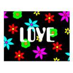 Explosión enrrollada del amor de la flor tarjeta postal