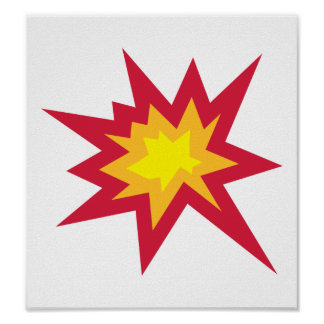 Explosion fire boom poster