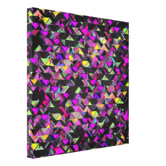 Explosión geométrica impresiones en lienzo estiradas