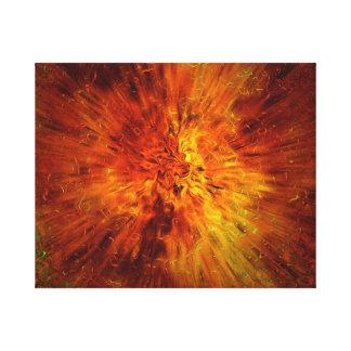 explosión grande impresión en lona estirada