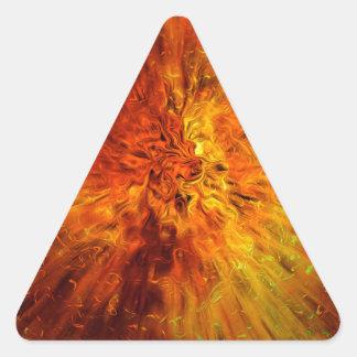 explosión grande pegatina triangular