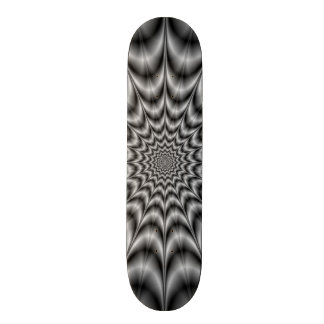 Explosion In Black and White Skateboard