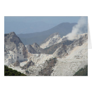Explosion in marble quarries in Carrara, Italy Card