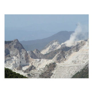 Explosion in marble quarries in Carrara, Italy Postcard