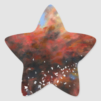 Explosion In The Sky Star Sticker