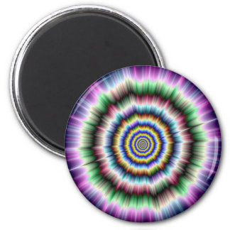 Explosion in Violet Green and Blue Magnet