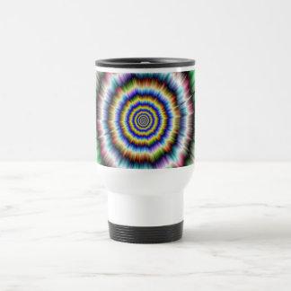 Explosion in Violet Green and Blue Mug