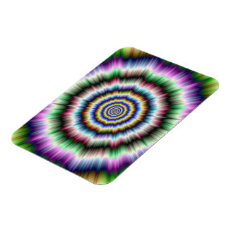 Explosion in Violet Green and Blue Photo Magnet