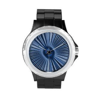 ¡Explosión metálica azul! Reloj De Mano
