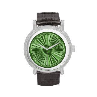 ¡Explosión metálica verde! Relojes De Mano