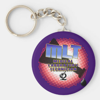 EXPLOSION MLT Medical Laboratory Technologist Basic Round Button Keychain