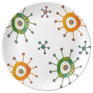 Explosión molecular de la estrella plato de cerámica